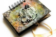 Art Journal Cover / Altered art journal covers, altered note books, book covers.
