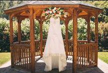 Wedding Dresses at Elliston / Photos of wedding dresses all over the Elliston estate.
