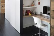Neat and Tidy Offices / Contemporary and minimalist office storage and spaces. Making the most of the space!