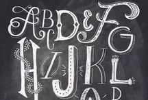Letter Styles and Doodles / Be creative with these wonderful font ideas for your signs.