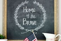 Home of the Brave / Use Fun Chalk Markers to create beautiful signs for the Fourth of July.