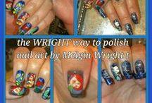 Disney Inspired Nail Art Nail art by Melgin Wright https://www.facebook.com/TheWrightWayToPolish http://pinterest.com/melginswright/boards/