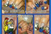Movie and Cartoons Inspired Nail Art