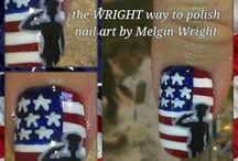 Patriotic/ U.S Military Nail Art