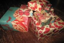 Paper Boxes / Handmade paper boxes for our small creations.