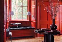 Red - A Bold Color for the Interior / Inspiring & bold colors for interior design!