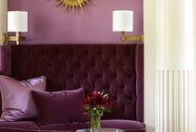 Purple Perfection / Purple color palettes in interiors.