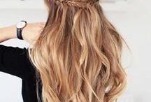 HAIR | Long / Inspiration for long hair and how to style it. Curling tutorials and simple styles!
