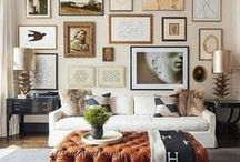 INTERIORS | Gallery Wall / Inspiration for gallery walls and artwork I like!