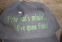 #Fathers day gifts  / Caps Gone fishing £3.50 each + p&p
