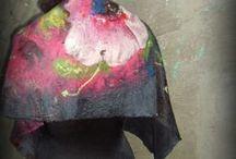felt ,my work :) filcowane szale