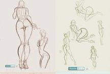 Anatomy Studies  / drawing tecniques