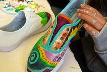 Decorative Art Classes | Bravo School of Art / Painted Plastic Chair, Painted Furniture, Painted Sneakers, Paint Your Wine Glass... classes at Bravo School of Art San Diego