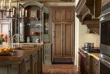 kuchyně Kitchens rustikální