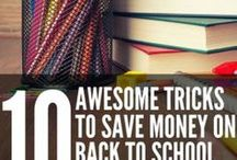 Save Money on Back to School / Budget friendly tips for going back to school. Whether you're going back to grade school, high school, college or beyond, these frugal tips will help you save and maybe even make some extra money!