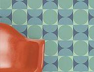 Retro Design / Great decorative design pre-1979. Fabric, wallpaper, stationery...