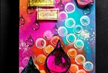 My Distress Inks, Paint and Stains Tags