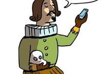 Shakespeare / Board for The Bard . . . still my very favorite author to teach.