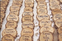 Place Cards + Seating Charts / Rustic wedding place card and seating chart ideas.