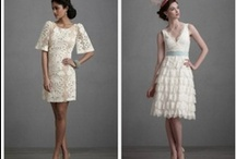 Short Wedding Dresses / Short wedding dresses can look great at a rustic wedding, country or backyard wedding. All of these short wedding dresses make for the perfect wedding dress.