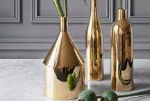 METALLIC / A flash of metallic shine to add some drama #copper #bronze #silver #gold #reflective #mirror #shine #glitter #interiors #lighting #thedesignhunter