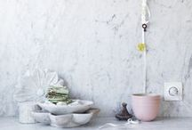 MARBLE / Splashbacks, sinks, walls, floors, counter tops and shelves - all perfect places for the timeless beauty of marble. #marble #white #bathroom #kitchen #decor #furniture #interiors  #thedesignhunter