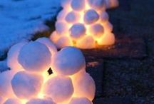 Winter Wonderland / Snow and holiday-inspired decor and craft ideas.