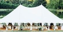 { Our Oyster Pearl Tent } / The Oyster Pearl tent has been recently added into the collection. It has a similar capacity to the Lulu and Dana Pearl structures and the same flat white interior, traditional rope and finial detailing and canvas exterior.