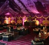 { Our Purple Palace Tent } / Gorgeous chocolate-box decadence all in a purple velvet tent interior