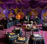 Purple Palace Tent / Gorgeous chocolate-box decadence all in a purple velvet tent interior