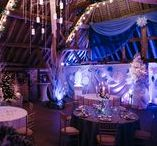 Winter Wonderland Christmas Inspiration / This Christmas, we have created a whimsical Winter Wonderland with cascading chandeliers, snowflakes and icicles a-plenty and lots of snow!