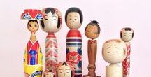 kokeshi / Creative kokeshi dolls and traditional Japanese kokeshi, new and vintage. This board is all about this traditional wooden art form in Japan and reflects my own taste. Love it? You can learn more and buy vintage kokeshi and newly-made ones on www.folkeshi.com.