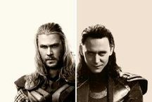 Chris Hemsworth and Tom Hiddleston / Chris and Tom / by Mai Xiong
