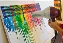 Paisley and Crayon Art / Crayons
