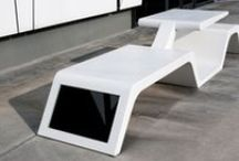 Wi-Bench By Modula Srl / Wi-Bench in DuPont ™ #Corian® to share urban spaces exploiting wireless technology and solar energy. Designed by Architect Thomas Tavani, produced by #Modula Srl