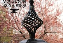 www.madisonironandwood.com / Wrought iron and metal art décor for fences and homes made by Madison Iron and Wood