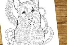 Dog Lovers Coloring Books and Pages / If you love dogs and their various beautiful breeds and you love coloring, you will love these pages!