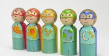 peg dolls / Peg dolls and wooden people, + tutorials to try to make your own! These cute wooden dolls will delight your kids.