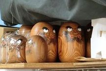"""daruma / Daruma are papier maché or wooden dolls from Japan. Inspired by the Bodhidharma, first importator of buddhism concepts in Japan, and the proverb """"Fall seven times, get up eight"""". It is used as a lucky charm and to remember one's goal. Usually one eye is left unpainted, for you to fill it once you achieve your goal."""