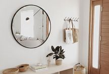 entryway ideas / Decoration ideas and products suggestions for your entryway or entrance at home, to make it both functional and stylish: mirrors, coat hooks, shoes organizers, consoles, small furnitures, deco accents etc.