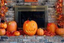 Halloween fireplaces / Halloween fireplace decorating