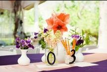 Purple and Orange Wedding / Different colors represent happiness!