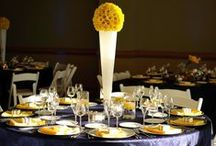 Yellow and Blue Wedding / Different colors represent happiness!