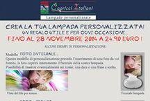 Lampade Personalizzate / Lampade da Tavolo in vetro soffiato a bocca con l'immagine desiderata. E' possibile inviare la foto desiderata o scegliere tra quelle proposte. www.capricciitaliani.com