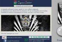 Squadre di Calcio / Lampade da Tavolo in vetro soffiato a bocca con l'immagine desiderata della squadra del cuore. E' possibile inviare la foto desiderata o scegliere tra quelle proposte. www.capricciitaliani.com