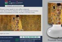 Arte / Lampade da Tavolo in vetro soffiato a bocca con l'immagine desiderata di un opera d'arte. E' possibile inviare la foto desiderata o scegliere tra quelle proposte. www.capricciitaliani.com