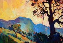 Art of Erin Hanson / Beautiful, colorful and vibrant oil paintings.