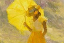 Art of Diane Leonard / Contemporary American Impressionist painter. Her Fine Art America site for prints of her beautiful oil paintings is here: http://fineartamerica.com/featured/little-sunflowers-diane-leonard.html      And her website can be found here: http://www.dianeleonard.com/content.asp?page_id=9  Her paintings simply GLOW with color and light and life.
