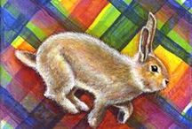 Jan 2016 - 30 Paintings in 30 Days / Theme - Bunny Rabbits on Plaid!   They are all looking for new homes; if interested, click on the link and my blog post will tell you the bunbun's story.