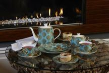 Bristol Belle Turquoise | Royal Crown Derby / Bring a touch of turquoise and gold into your home with the opulent and indulgent Bristol Belle Turquoise fine bone china collection from Royal Crown Derby.